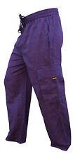 Plain Wide Leg Men Cargo Pants Bohemian Festival Hippie Casual Combat Trousers