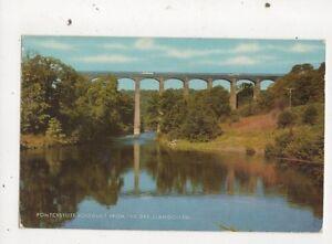 Pontcysyllte Aqueduct From The Dee Llangollen Postcard 619a