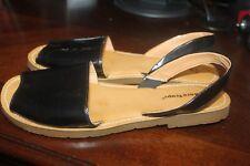 Bare Traps VIENNA Women's Sandals Size 10 M Patent Slingback Sandals Black