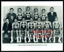 1969-70 UBC THUNDERBIRD basketball Team Issued 8x10 B&W photo (Vancouver B C)