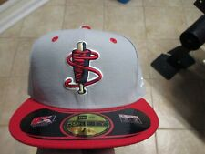 LOWELL SPINNERS MINOR LEAGUE NEW ERA (5950) FITTED HAT (7 1/4) NWT $38 GRAY/RED