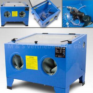 BITUXX Sandstrahlkabine 90 Liter Tisch Industrie Sandstrahlgerät Sandstrahlen