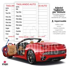 2 5 10 20 50 Tagliando Auto Cambio Olio Etichetta Adesivo In Pvc IMPERMEABILE