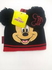 Nwt Disney a Junior Mickey Mouse Hat Beanie And Mittens Gloves Set Toddler