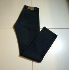 Men's Black Denim CROCKER Button Straight Western Casual Trousers Jeans W 33 L34