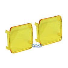 2X Durable Protective Colored Translucent Amber 3 X 3 Square Spotlight Cover