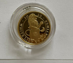 Lion Of Mortimer 1/4oz Gold Proof Coin Box Coa Lovely Condition Queens Beast