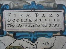 Map, J Blaeu & T Pont, c.1654, West Fife, Antique Original, Fifae Occidentalis >
