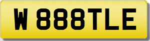 VW VOLKSWAGEN BEETLE Private CHERISHED Registration Number Plate TLE 888 WB WBB
