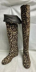 Michele Negri Pony Hair Wedge Boots Size 36 IT / 6 US