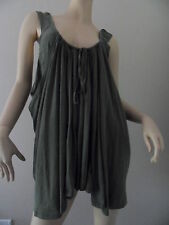 WITCHERY olive green casual draping layered tank top 100% cotton size M/L BNWT