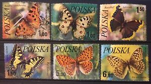 Poland. butterflies S.C.#2227-32 MNH, Complete set of 6 as issued in 1977