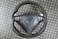 Mercedes SLK R171 W171 55 C-class W203 Flat Bottom Steering Wheel Carbon Fiber