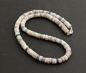 Natural Ópalo Cadena de Piedra Preciosa Juego Color Mexicana Noble Collar 45CM