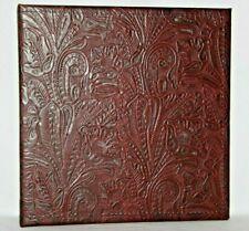 New Listingdark Burgundy Western Floral Embossed Leather 2 3 Ring Binder