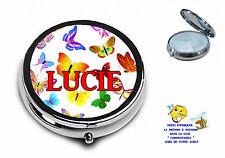 boite à pilulles pilulier personnalisable prénom ou texte choix réf 24 papillon