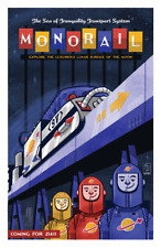 "Original LEGO Art Space Monorail Transport System Futuron 6990 11""x17"" Poster"