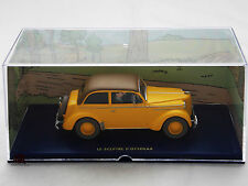 Miniature En voiture Tintin LE SCEPTRE D OTTOKAR Opel Olympia Moulinsart Car