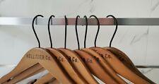 Hollister Co. - Lot of 8 Wooden Hangers