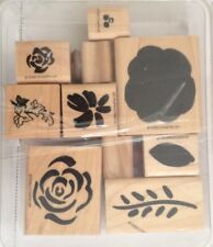 Ten Stampin Up 1996 Wood Mounted Rubber Stamps Vintage Most Are New Old Stock