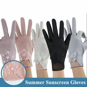 Anti-UV Sunscreen Gloves Summer Stretch Driving Anti-Slip Touch Screen Gloves  #