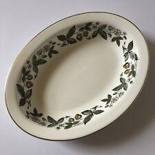 "Wedgwood Strawberry Hill Fine Bone China 10"" Oval Vegetable Serving Bowl"