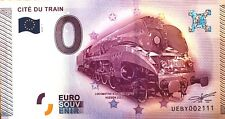 BILLET 0 ZERO EURO  SOUVENIR TOURISTIQUE  CITE DU TRAIN  MULHOUSE 2015
