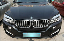 For BMW X5 F15 2014 2015 14pcs Chrome Front Center Grill Grid Grille Cover Trim