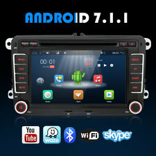 DOPPEL 2 DIN AUTORADIO ANDROID 7.1 GPS NAVI DVD WIFI BT for VW GOLF JETTA PASSAT