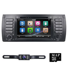 "7"" Indash GPS Navigation HD 800x480 Car DVD Player Stereo Radio BT For BMW E39"