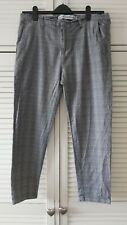 👖Men's  Black/ White check Trousers  , W36/L30 ,Good Con