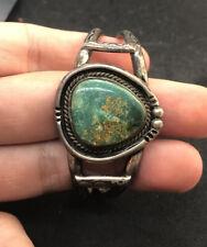 Vintage Navajo Sterling Silver Turquoise Bracelet 31 Grams
