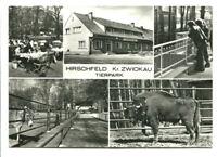 uralte AK Hirschfeld Kreis Zwickau Tierpark Büffel Esel Gaststätte 1980 //28