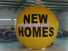NEW HOMES 7ft Yellow Advertising Round Air Helium Balloon Ball LARGE LETTERING