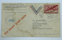 1943 NAVAL CENSOR COVER IDLE GOSSIP SINKS SHIPS US NAVY 214 PORT LYAUTEY MOROCCO