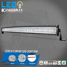 """Curved 52 inch LED Light Bar 900W 9D Combo Offroad SUV Tractor ATV Driving 54"""""""