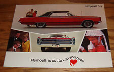 Original 1967 Plymouth Fury Sales Brochure 67 VIP Sport III II I Wagon