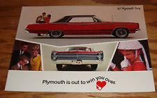 Original 1967 Plymouth Fury Sales Brochure 67 VIP Sport III II I Wagon