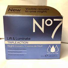 Boots No7 Lift & Luminate TRIPLE ACTION Night Cream 50ml - New in Box