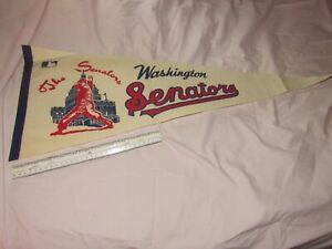 """Wonderful Vintage 1969 Washington Senators Baseball Felt Pennant 30"""" x 12"""" NICE"""