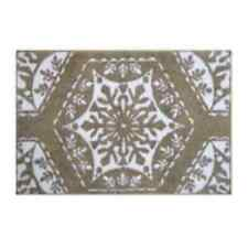 Fancy Snowflake beige Rug - 30'' x 20'' - NEW with tags
