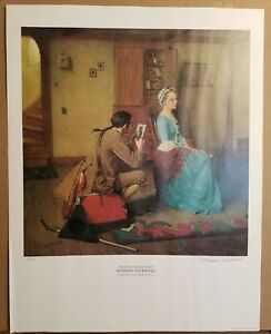 Norman Rockwell - The Colonial Silhouette Artist- Hand Signed & Numbered 88/100