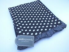 BRAND NEW EARTH SQUARED BLUE JERSEY SPOT SCARF LINED RICH GREY COTTON