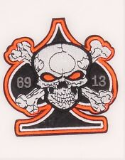 PATCH  ÉCUSSON THERMOCOLLANT BIKER   SKULL AS DE PIQUE HARLEY DAVIDSON COUNTRY