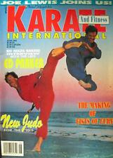 6/91 KARATE INTERNATIONAL JOE LEWIS ED PARKER BLACK BELT KUNG FU MARTIAL ARTS