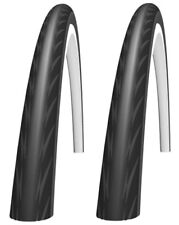 PAIR Schwalbe 25mm Impac Racepac 700C Bike Cycle Tyres Road 700 x 25 Black New