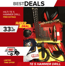 Hilti Te 5 Hammer Drill Preowned Free Thermo A Lot Of Extras Quick Ship