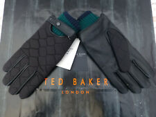 TED BAKER Leather Glove Exquisite Black Quilted SMART Gloves BNWT RRP£59