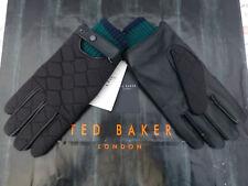 Ted Baker leather glove exquis Matelassé Noir Smart Gants BNWT RRP £ 59