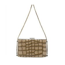 Olga Berg Women's Designer Hand / Shoulder Bag Satchel Tote Mocha OB4213